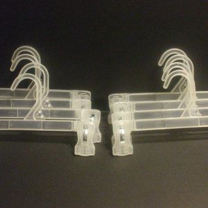 8 Clear Plastic Pinch Clip Pants And Skirt Hangers